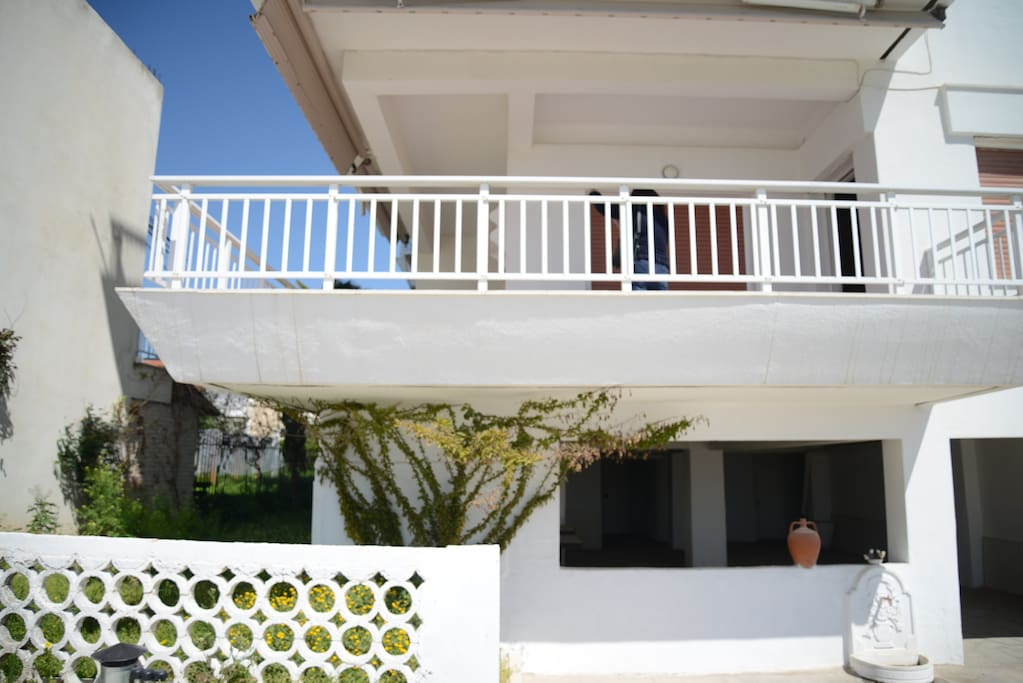 The balcony from the outside.