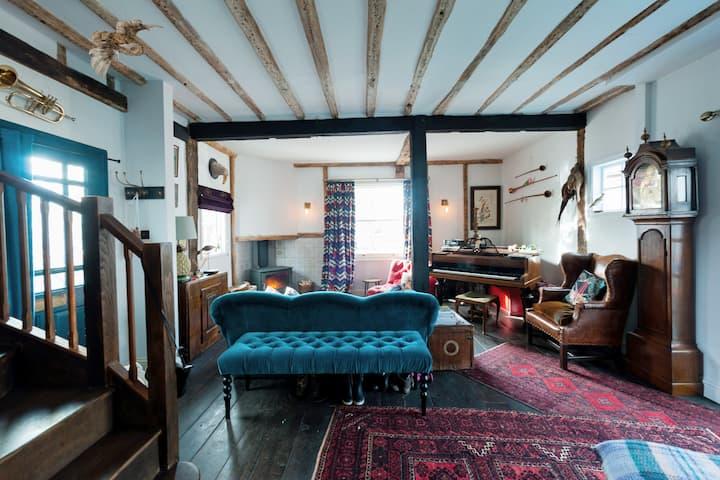Beautiful riverside Tudor house