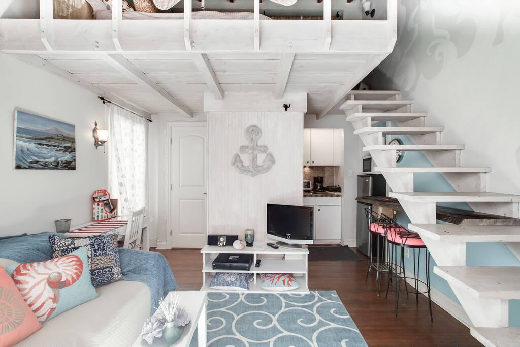 beach loft studio sand castle venice beach lofts louer venice beach californie tats unis. Black Bedroom Furniture Sets. Home Design Ideas