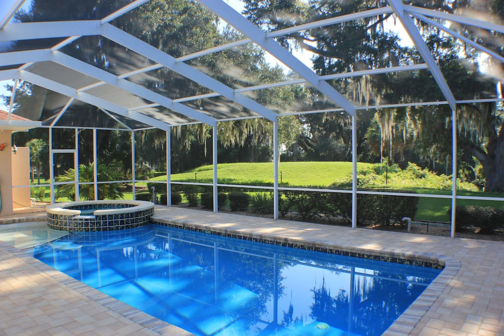 Golf Family Vacations Luxury Villa With Pool Houses For Rent In Inverness Florida