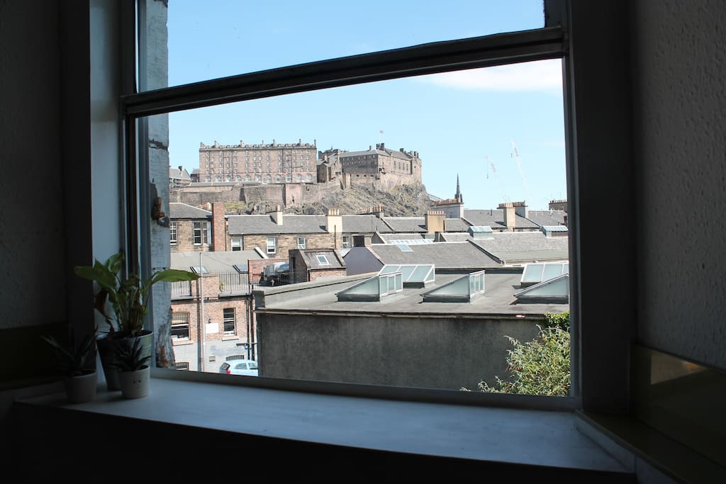 View to the castle from kitchen