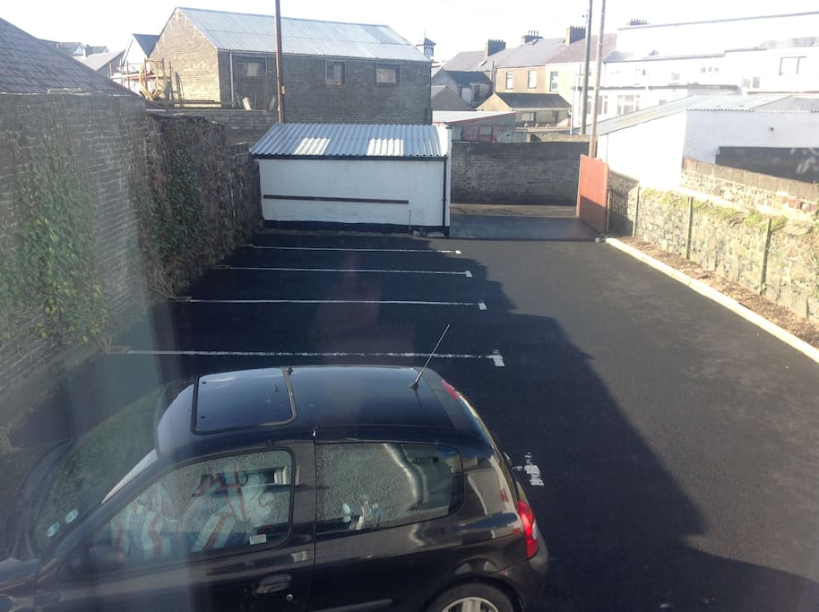 our private carpark at the back of house