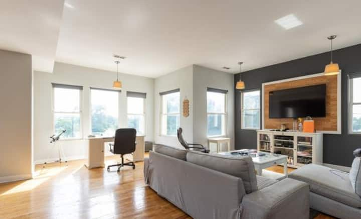 Penthouse view in Garfield Park (Room 2)