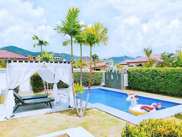 私人保姆 免费用车 接送机 拉威 奈涵海滩 花园泳池别墅 Rawai Naiharn 3BR
