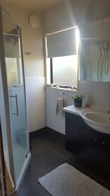Bathroom and private shower