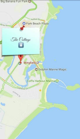 The proximity of the Cottage to the coast - 4 min drive /16 min walk.