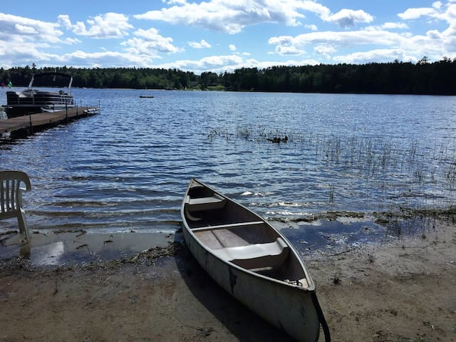 Blueberry Cove Cottage: Cozy, lakeside, with canoe