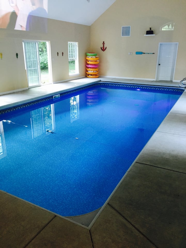 Beautiful home with indoor swimming pool!