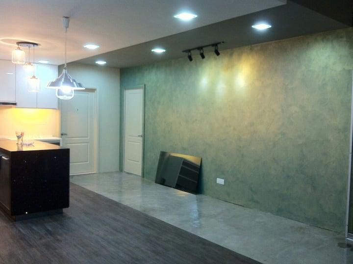 designer loft with spacious living hall,kitchen