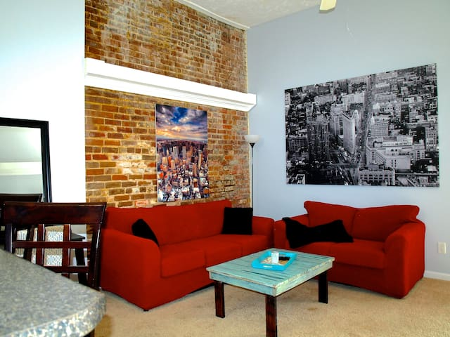 Downtown condo with balcony! Walk to everything!