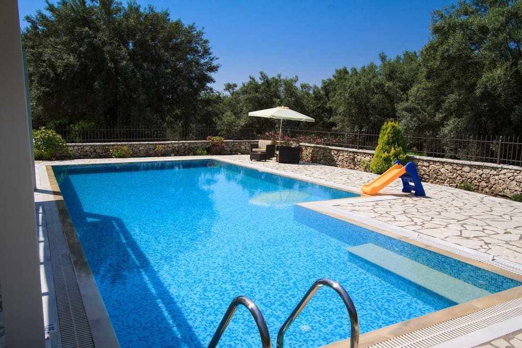 Villa niriides private secluded villa with very big swimming pool villas for rent in lefkada for California private swimming pool code