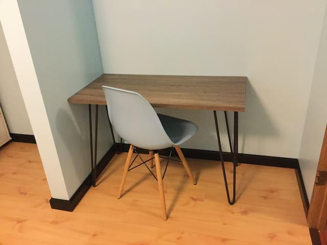 In-room desk.