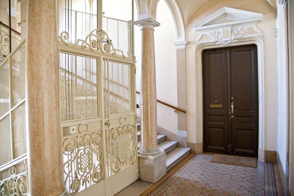 Original Art Nouveau staircase