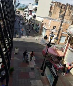 Walking in  square  cristobal colon - Santo Domingo