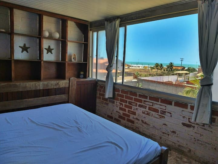 Apartamento com Wi-fi a 430m da Barraca Carlitos.