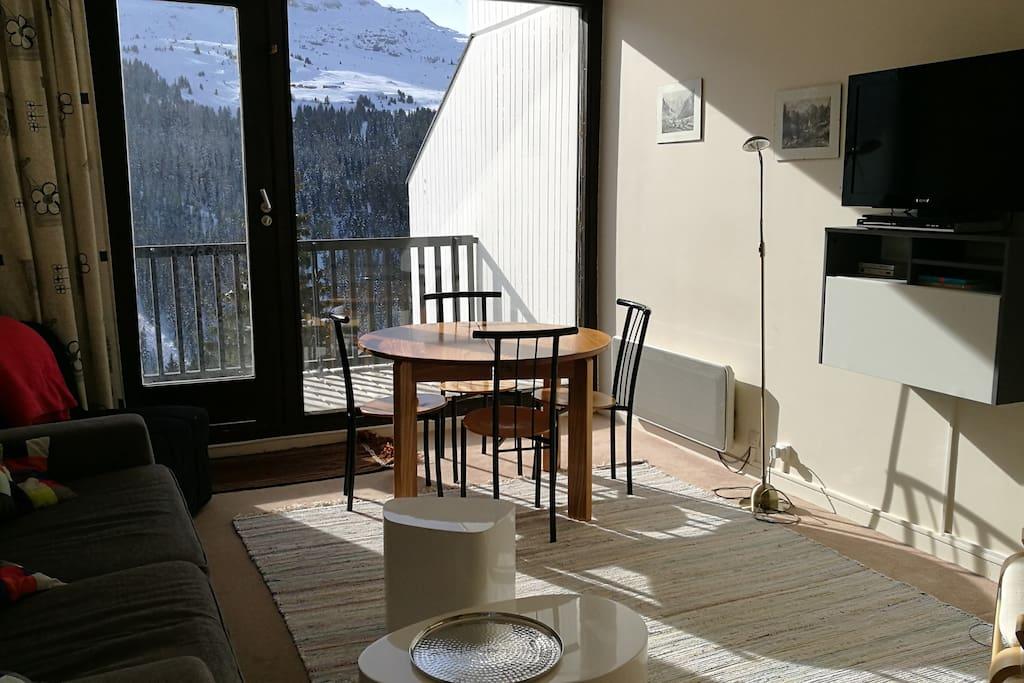 Séjour + accès à la terrasse