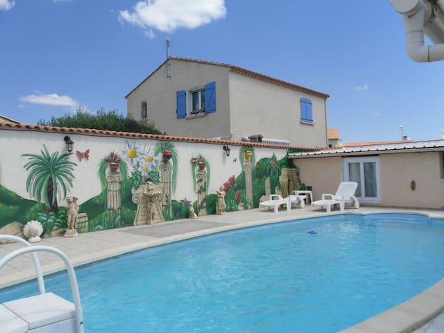 Studio 4 pers avec piscine proche mer à VIAS (34) - Vias - Casa