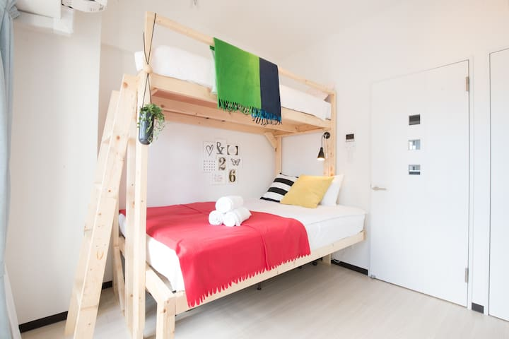 Bunk bed room/1min from JR 537
