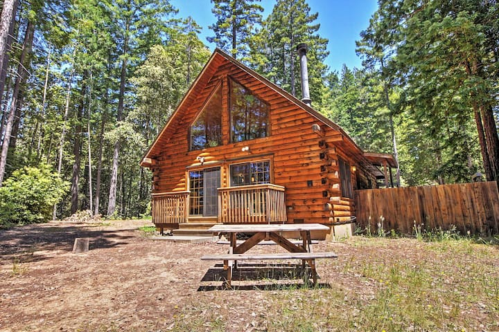 Rustic Log Retreat in Sonoma County on 1.58 Acres!
