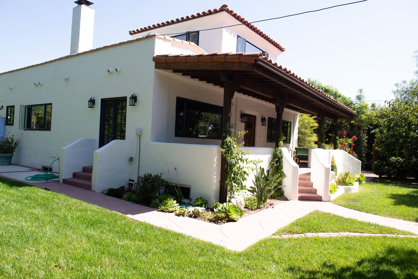 Welcome! This Santa Barbara bungalow with heated pool and spa is a spacious and private oasis on the West Mesa, and a short walk to the beach.
