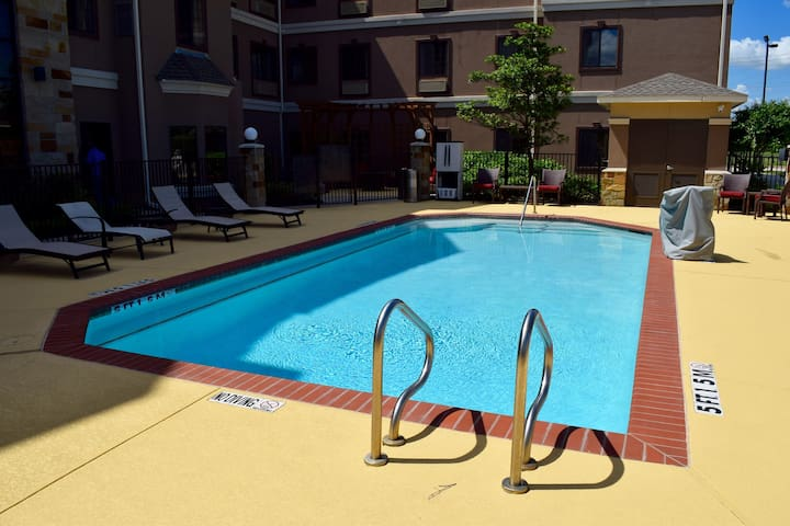 Outdoor Pool + Free Breakfast | 24 Hour Business Center + Fitness Center