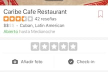 Caribbean restaurant, very good food and good prices, just minutes from the house.