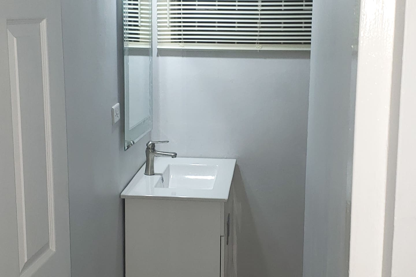 Very modern fixtures in a clean and comfortable environment.