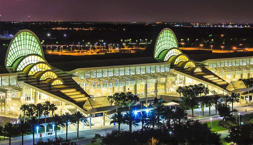 The Orange County Convention Center is a convention center located in Orlando, Florida. The distance is 6 minutes by car.