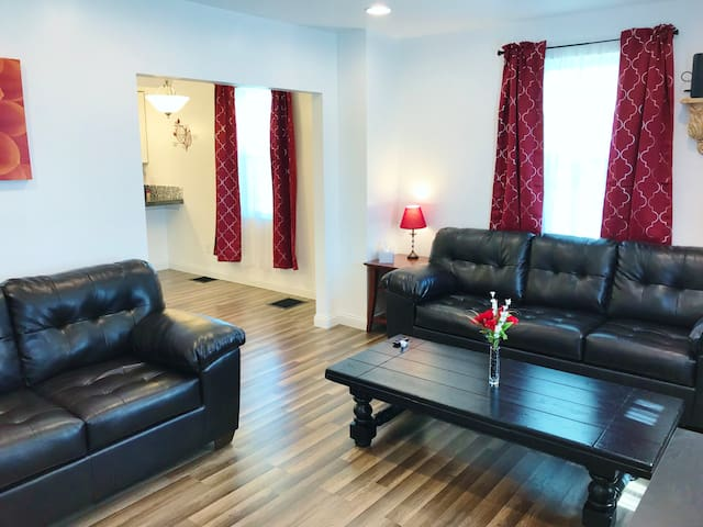 See how cozy the living room is? Socialize, relax, chill... It's all good!