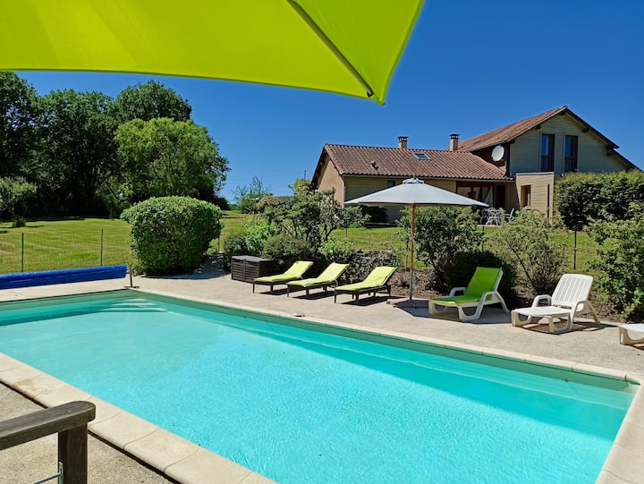 Timber framed Private home, Private studio & Pool
