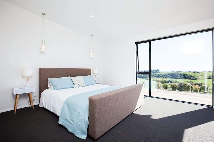 Master bedroom with luxury linen
