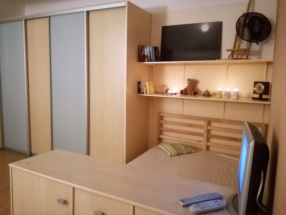 Light and cosy studio type apartment featuring all the amenities one should need for a short or longer stay in Riga