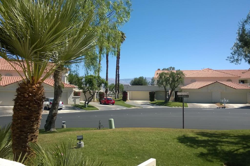 Court yard mountain view