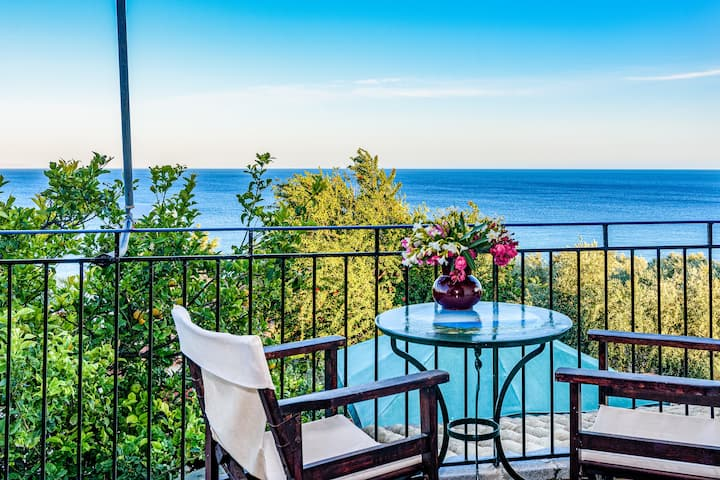 Eros cozy, panoramic sea view, perfect location