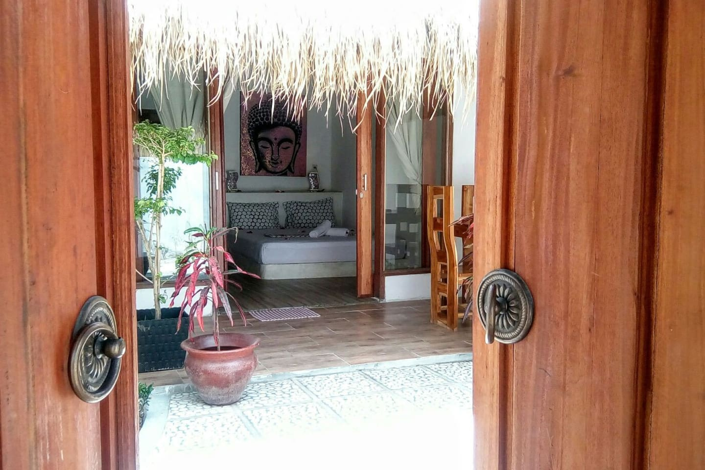 entrance to Buddha suite and your private garden