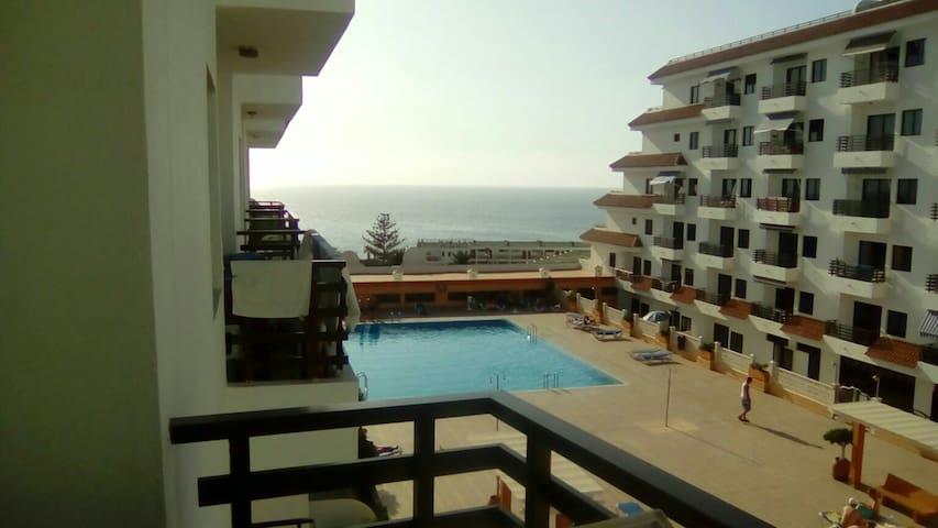 2bdr apart with sea view+wi-fi+ - Santiago del Teide - Daire