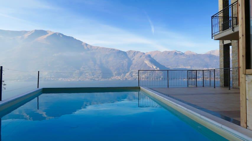 App. 2 camere letto con vista lago