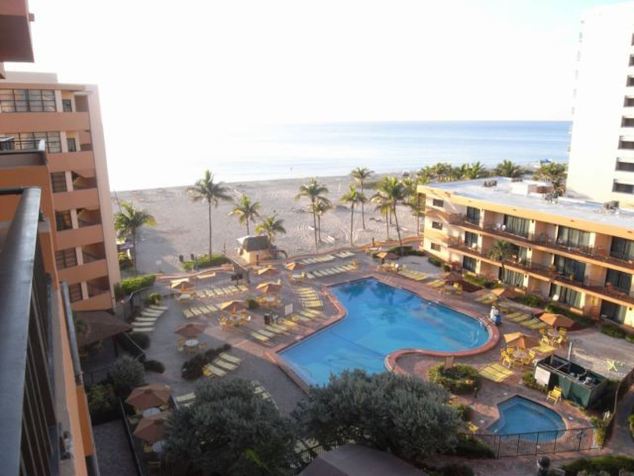 Similar view from 7th floor unit, facing pool and beach.