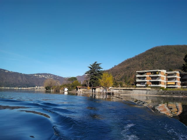 Green Lake Flat, Lugano lake, 10min from Lugano - Maroggia