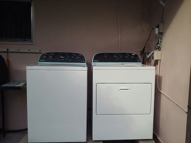 Washer and dryer for you to use.