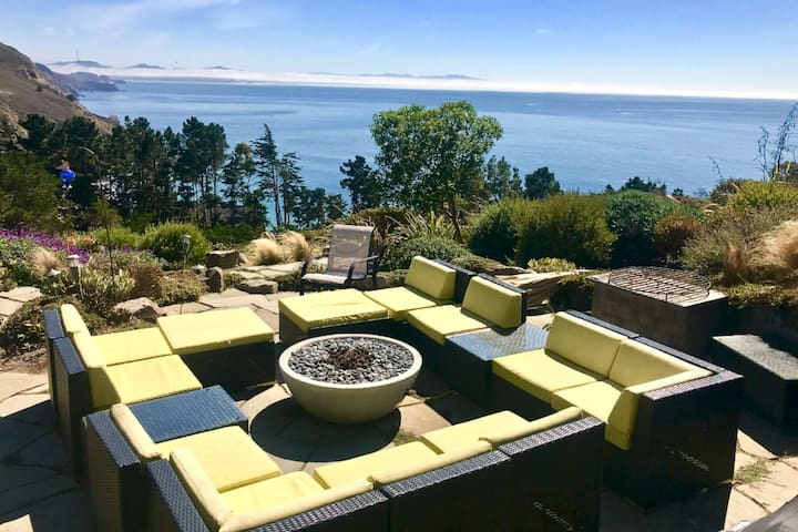 Stellar Muir Beach retreat w/ amazing views
