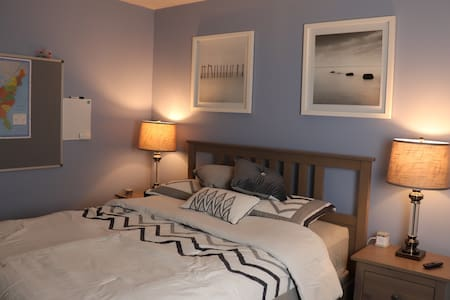 Modern space with queen bed - A/C ready!