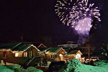 Lupine Village is the perfect place to watch the fireworks on New Years Eve or 4th of July.