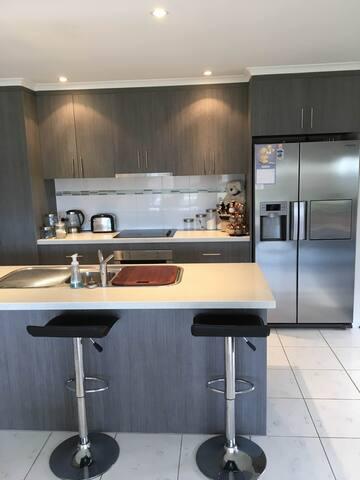 Kitchen...fridge with ice-maker