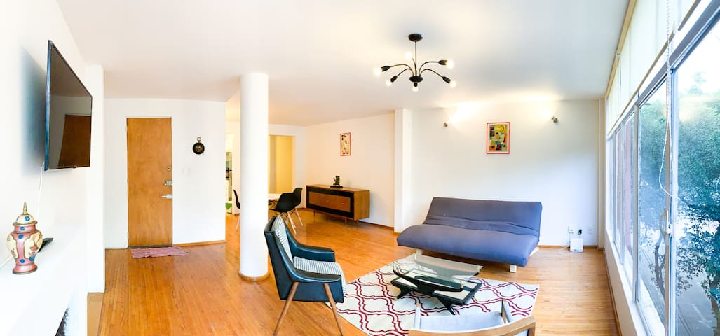 5 min on foot from Reforma, 1BD 1BA, 4 guests Apt.