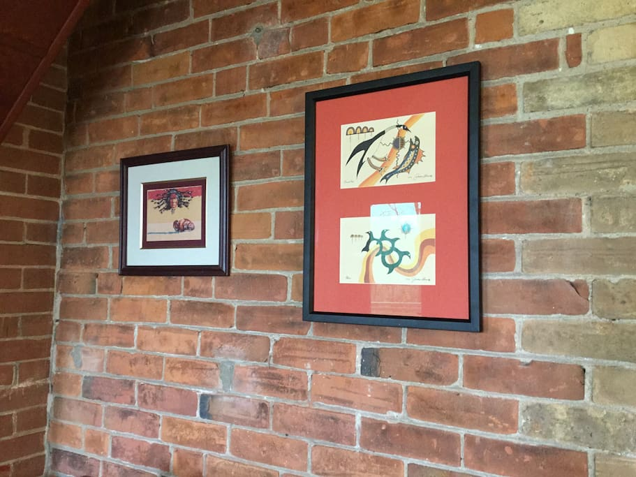 Some of the many original art found throughout the rooms
