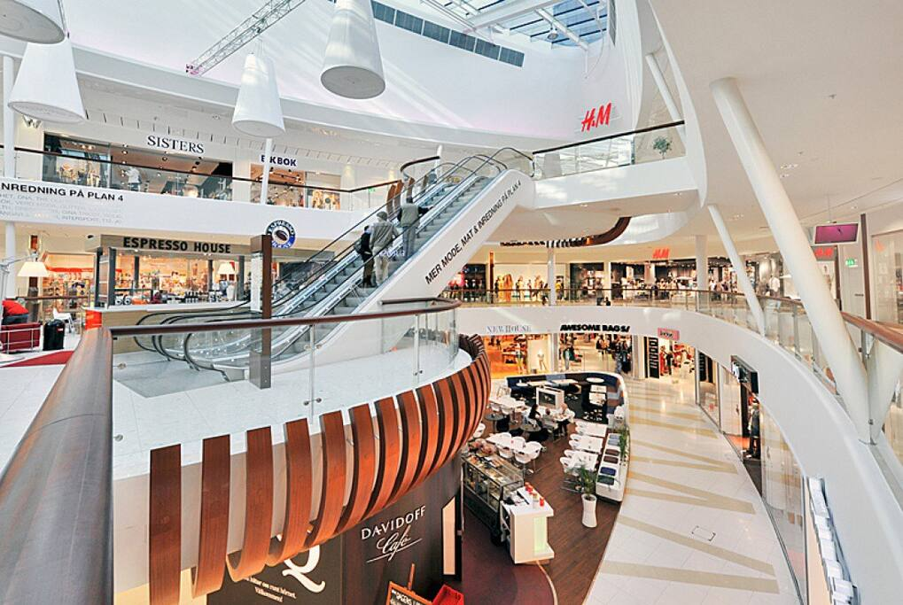 Close to Forum Nacka, a big shopping mall