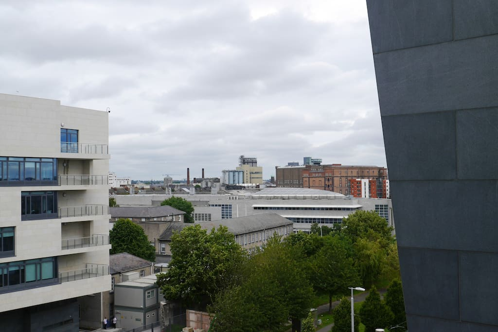 Spot the Guinness Storehouse on the right hand side. This is the view from the first balcony.