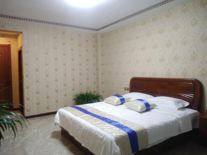 新中式风格豪华独卫三居海景公寓