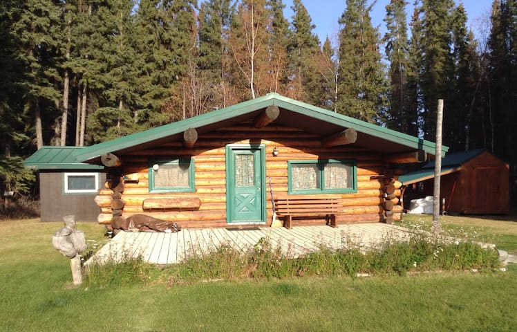 Beautiful homestead cabin with all of the modern comforts. 2 bedrooms, 1 bathroom, washer and dryer.